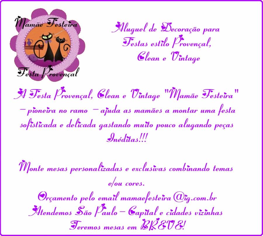 Festa Provençal e Clean  Mamãe Festeira