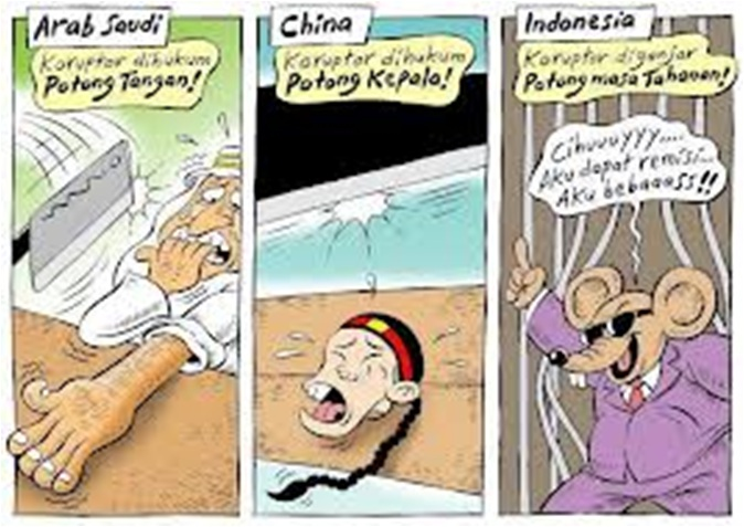 gambar kartun komik tentang korupsi