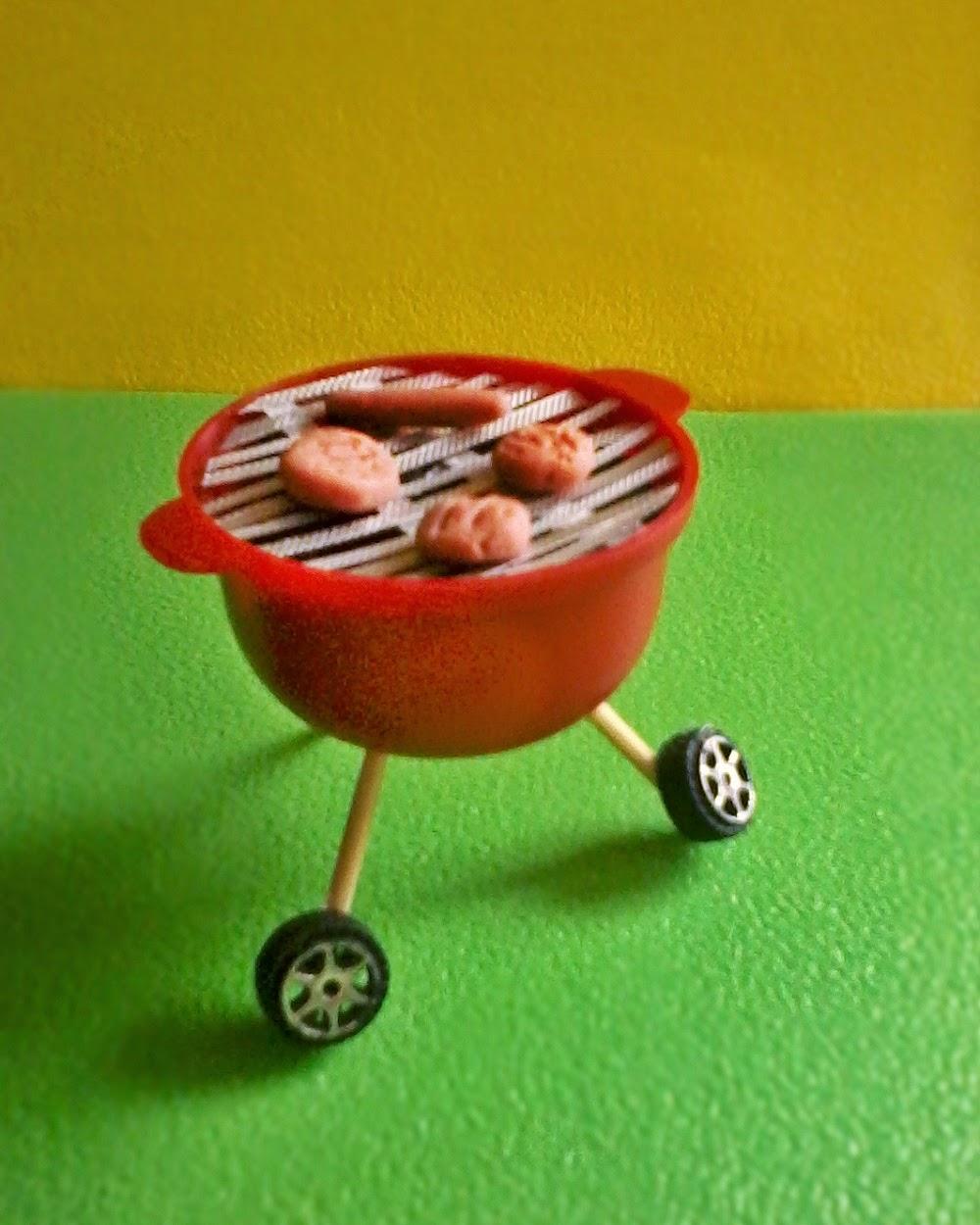 Grill BBQ Dollhouse Miniatura