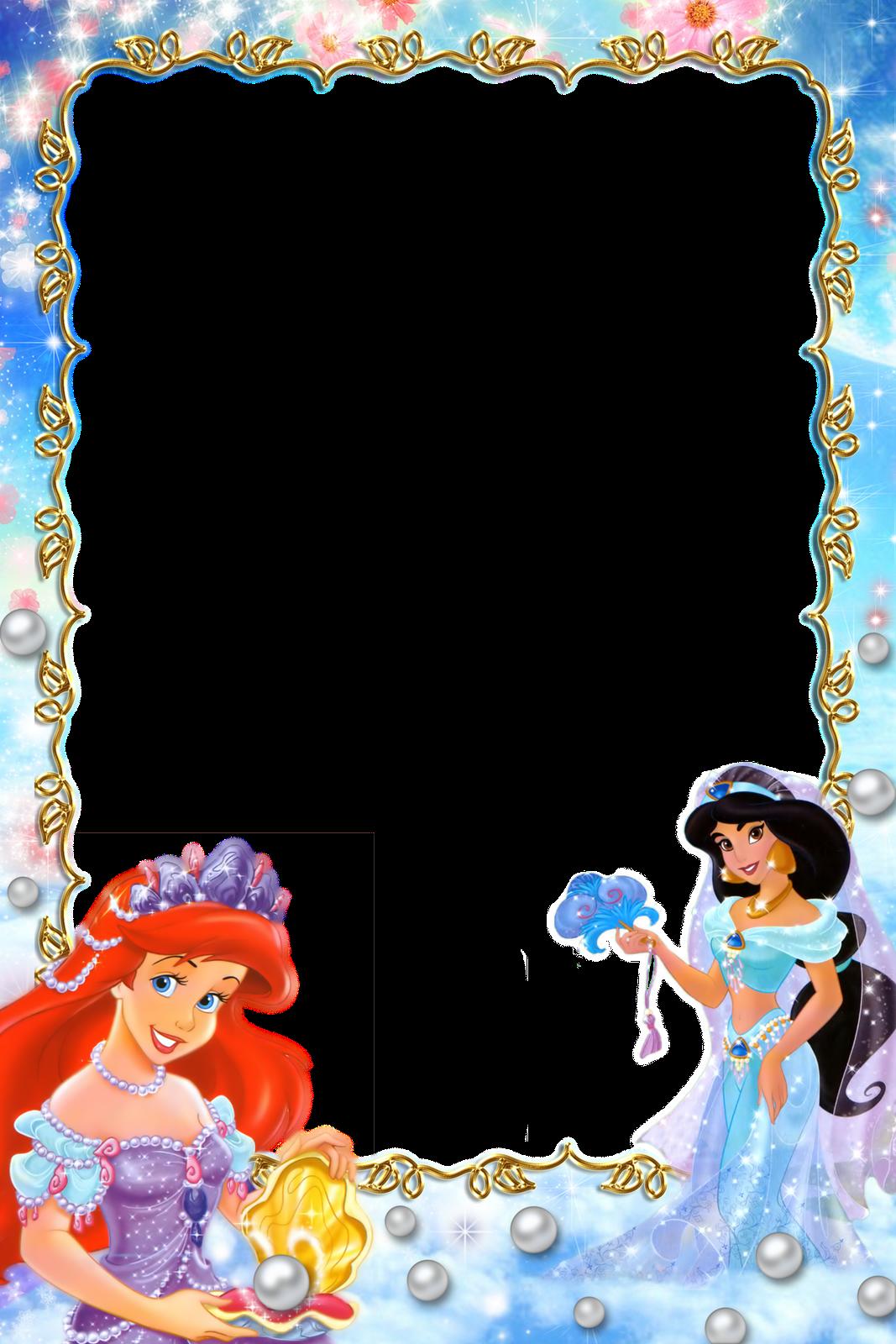 Fotomontajes gratis: marcos princesa disney