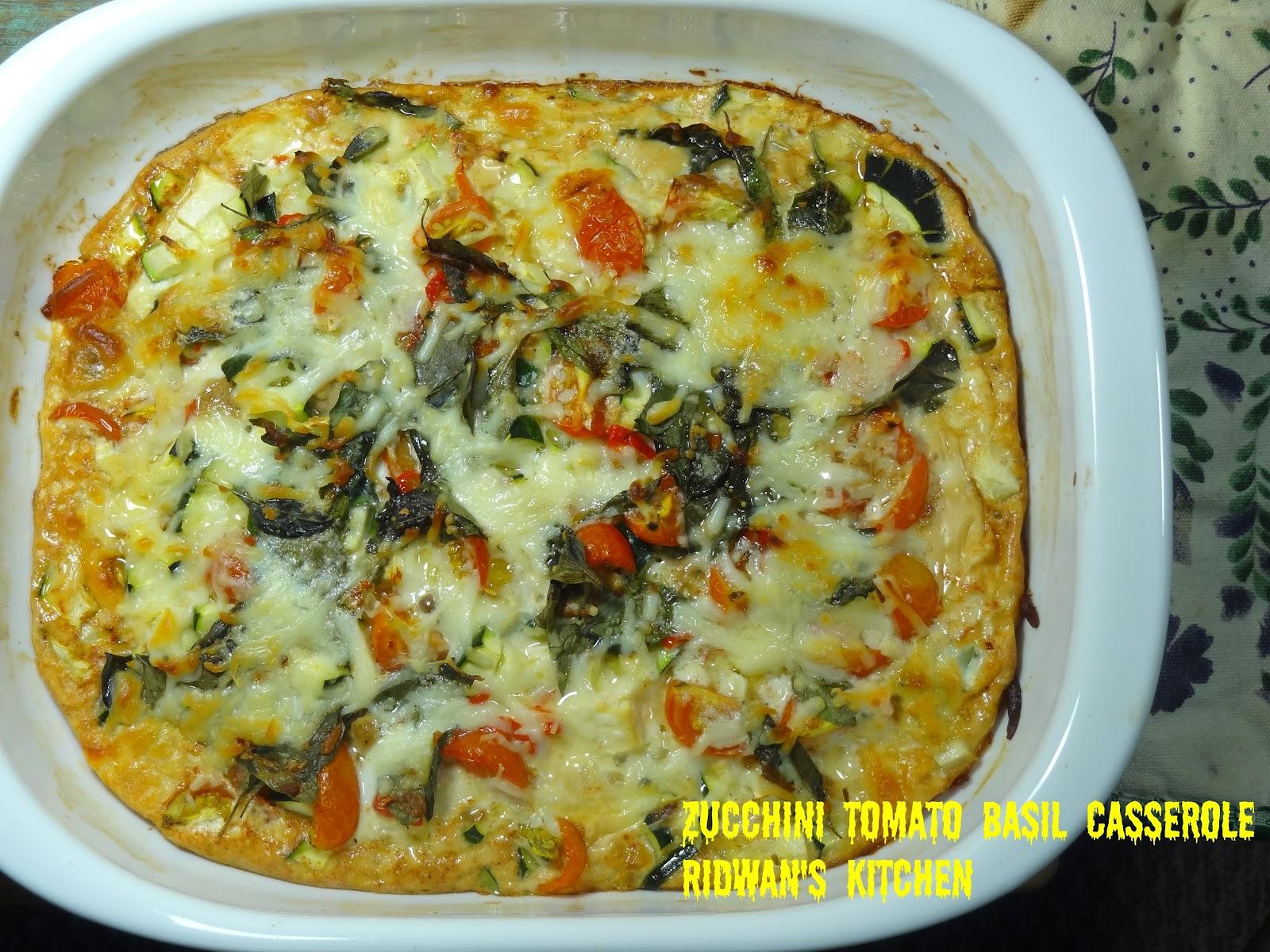 Rice and Coconut: Zucchini tomato basil casserole