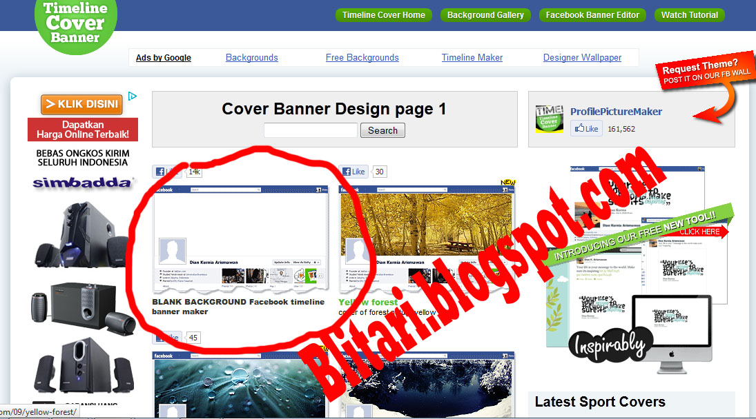 CARA EDIT FOTO SAMPUL FACEBOOK DI TIMELINECOVERBANNER.COM