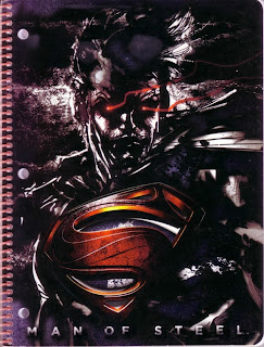 Front cover of the Man of Steel spiral notebook