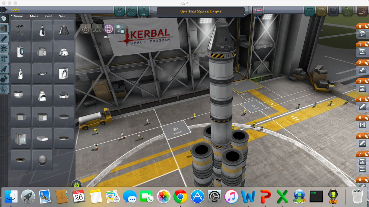 Okadai ELearning ラフラー My New KSP Spaceship Design - Spaceship design game