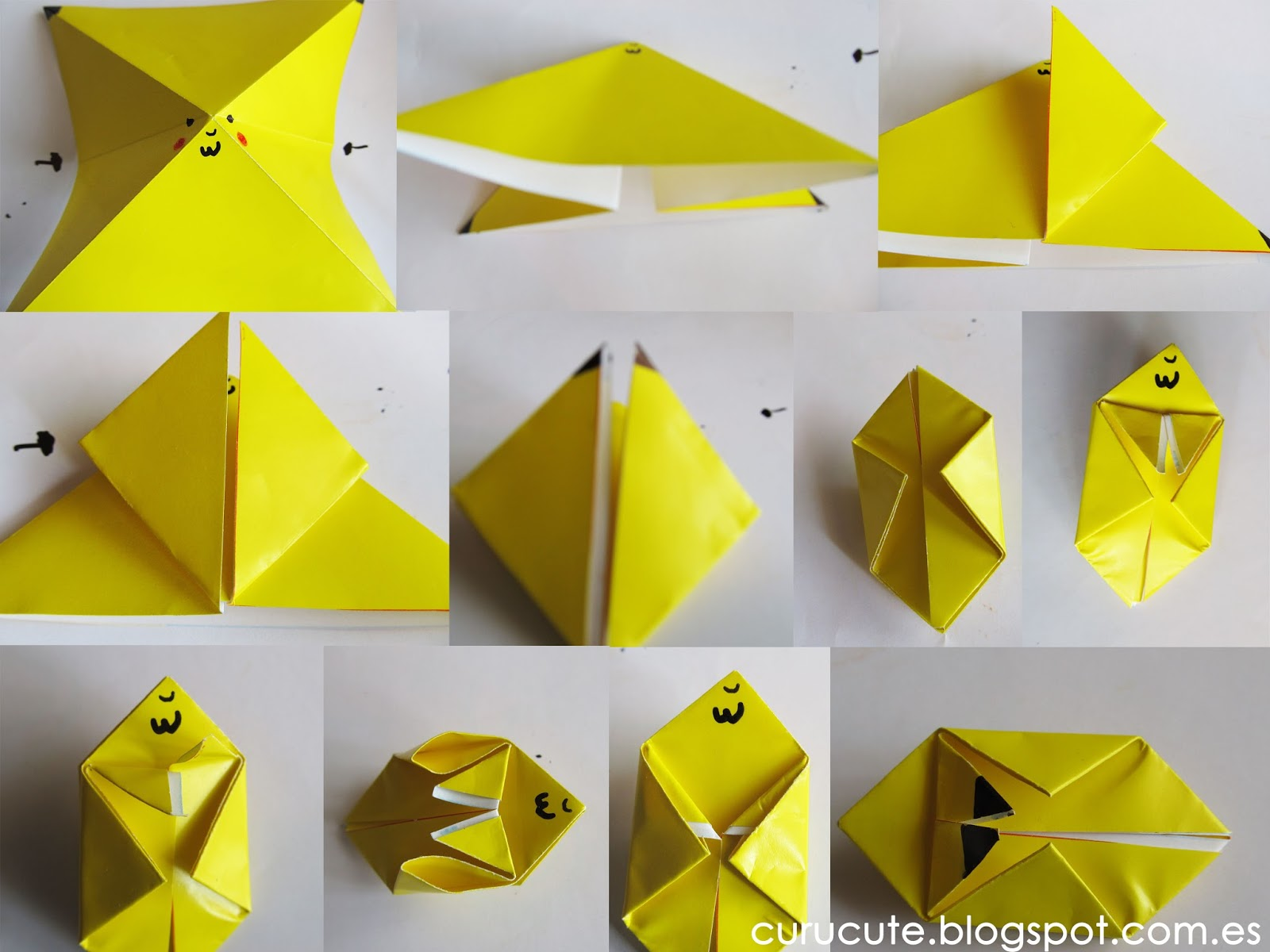 How To Make Origami Pokemon Step By Step