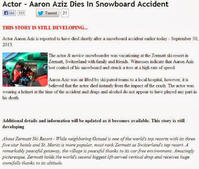Aaron Aziz Meninggal adalah cerita palsu hoax