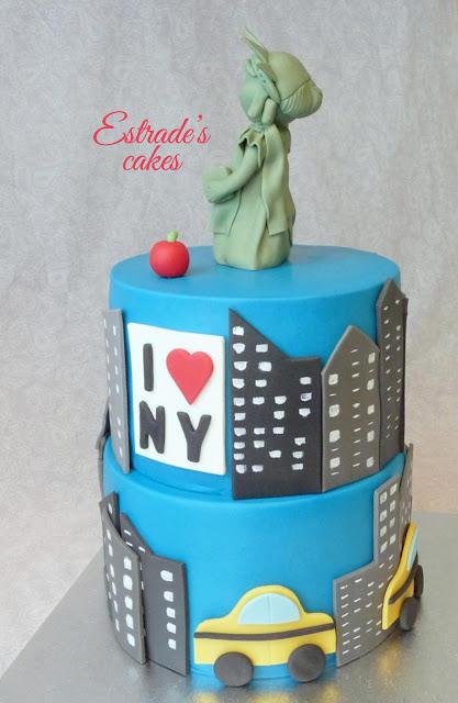 tarta de Nueva York con fondant 2