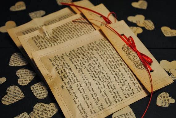 walentynkowe inspiracje DIY koperty walentynkowe z książki i gazety