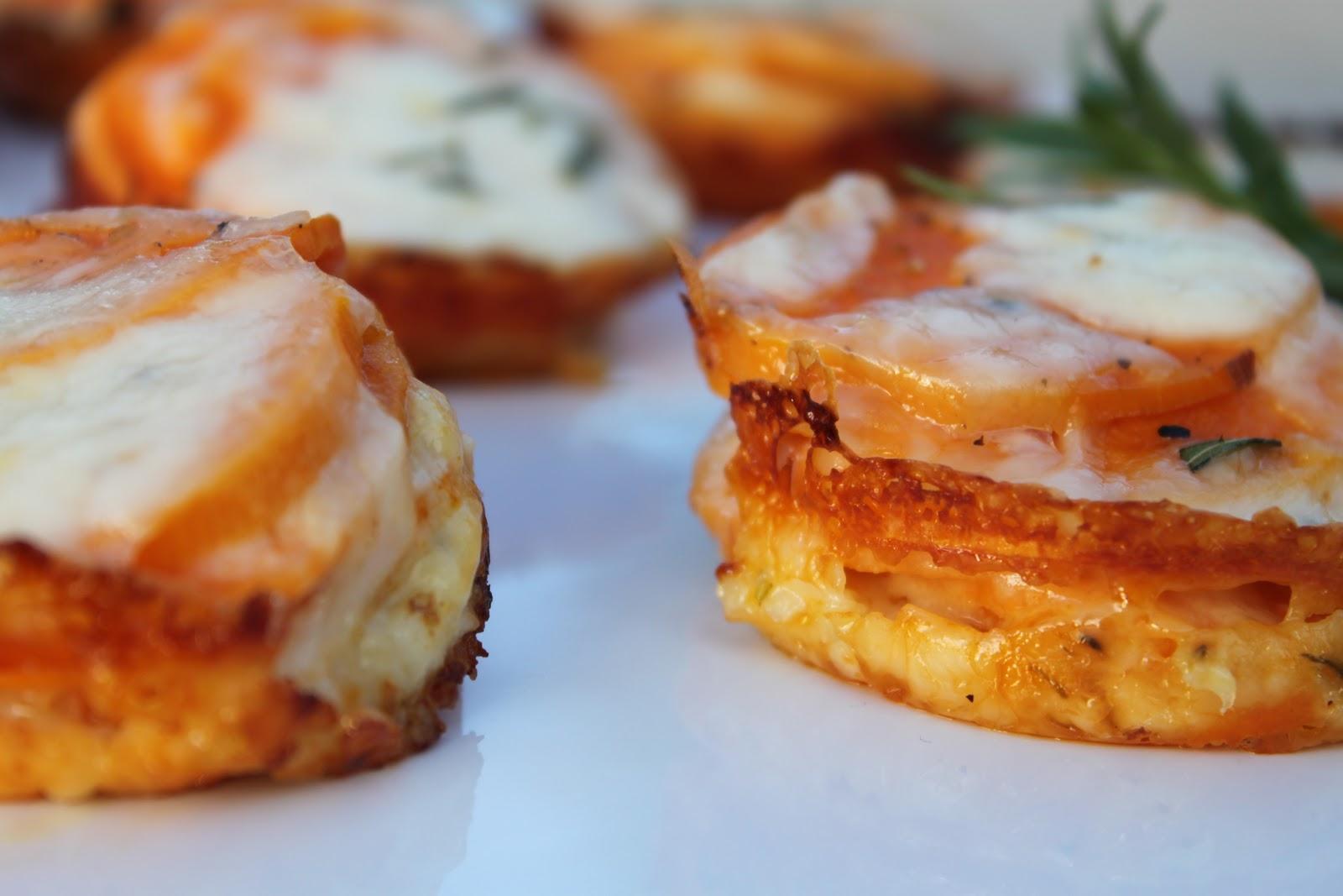 Southern Candied Sweet Potatoes Scalloped sweet potato stacks