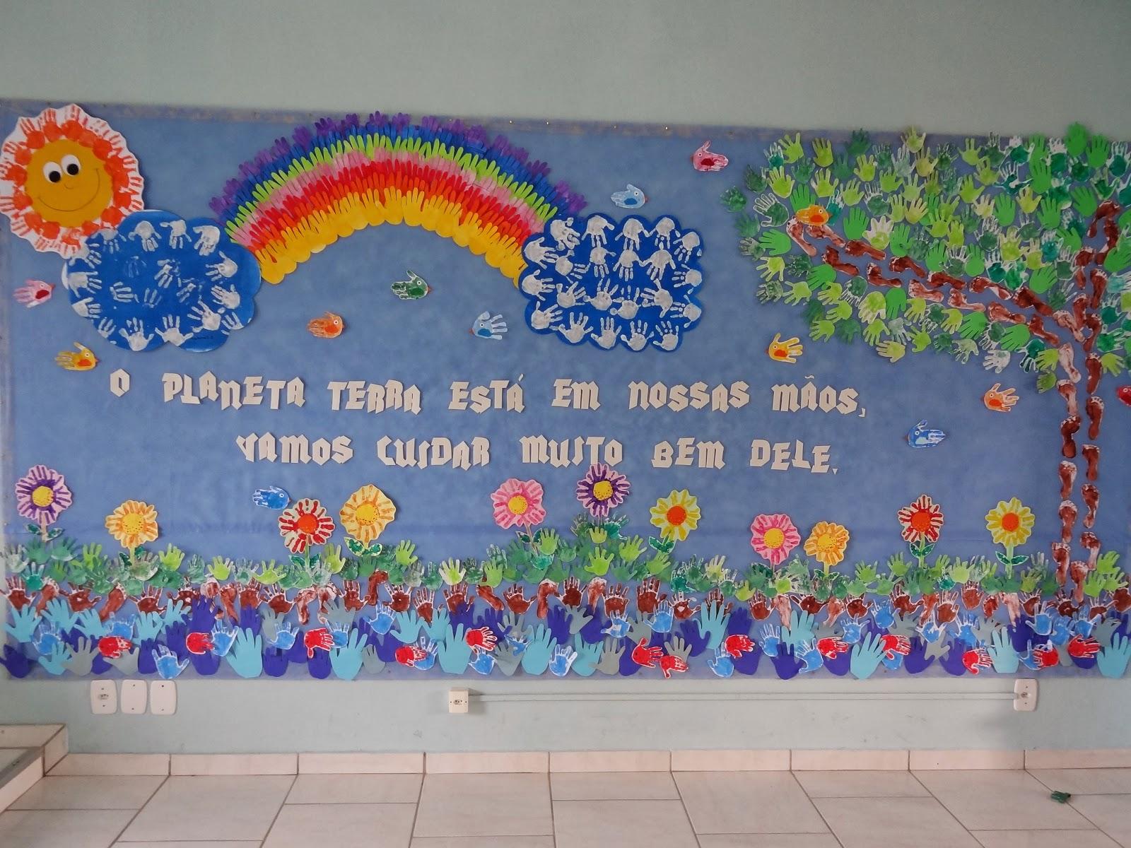 Pequenos not veis 05 06 dia do meio ambiente for Mural sobre o meio ambiente