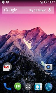 Kitkat 4.4.2 Update for Galaxy W Home Screen