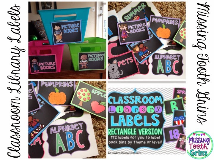 Make your classroom library stand out with the bright colored library labels... Now editable!!