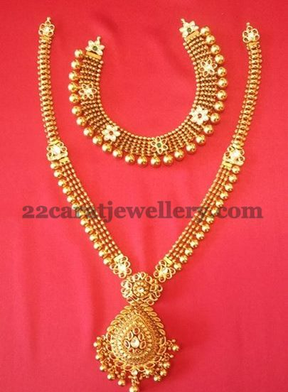 20 gms necklace 40 gms long set jewellery designs