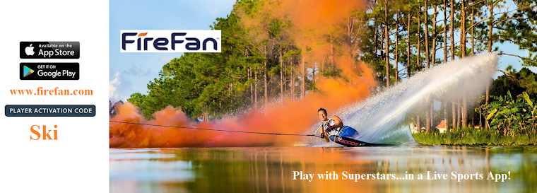 Hey water ski fans! Call the plays in real time w/ pro water skiers on FireFan in league Water Ski.