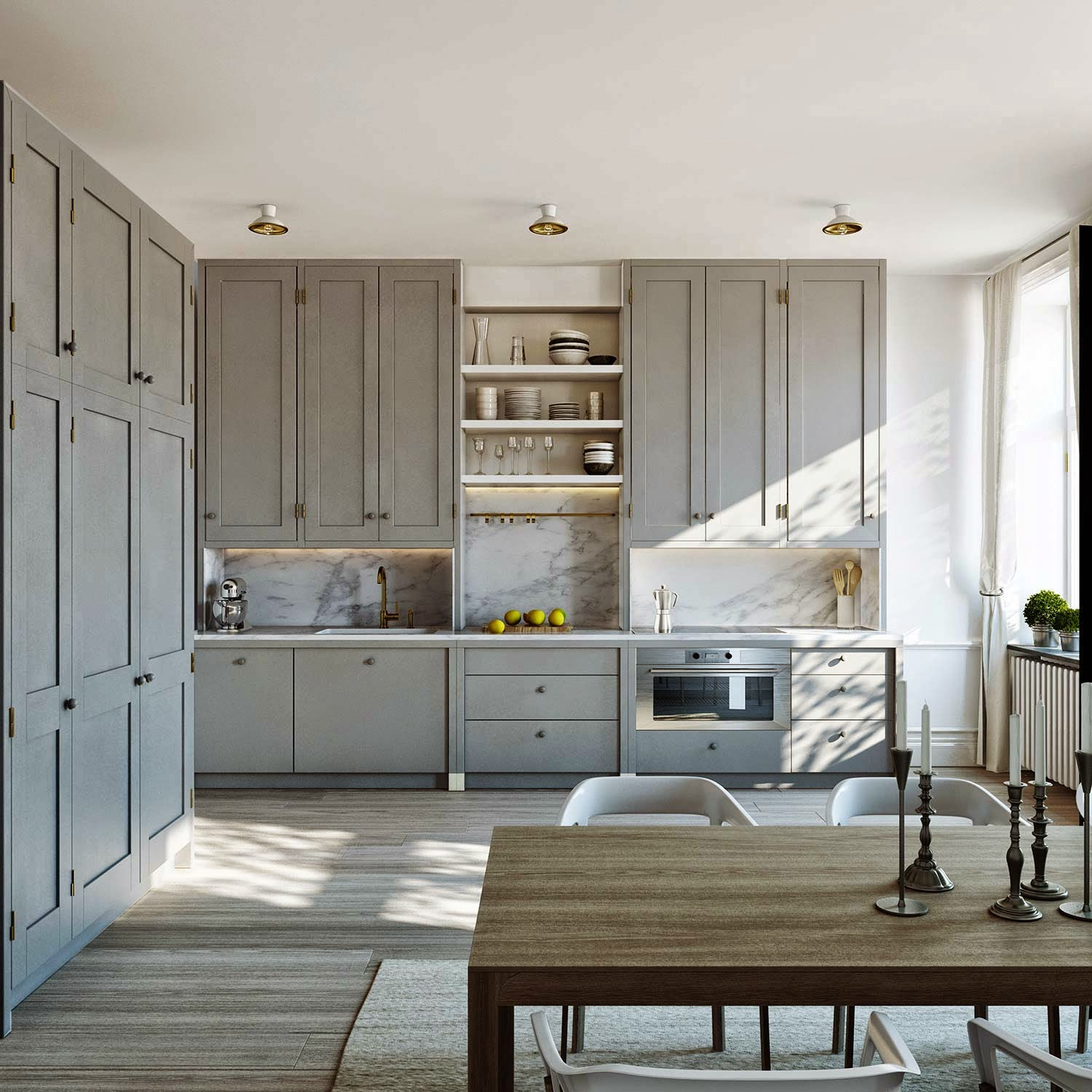 Grey Kitchen Ideas That Are Sophisticated And Stylish: NÅGOT VITT: GRÅTT KÖK