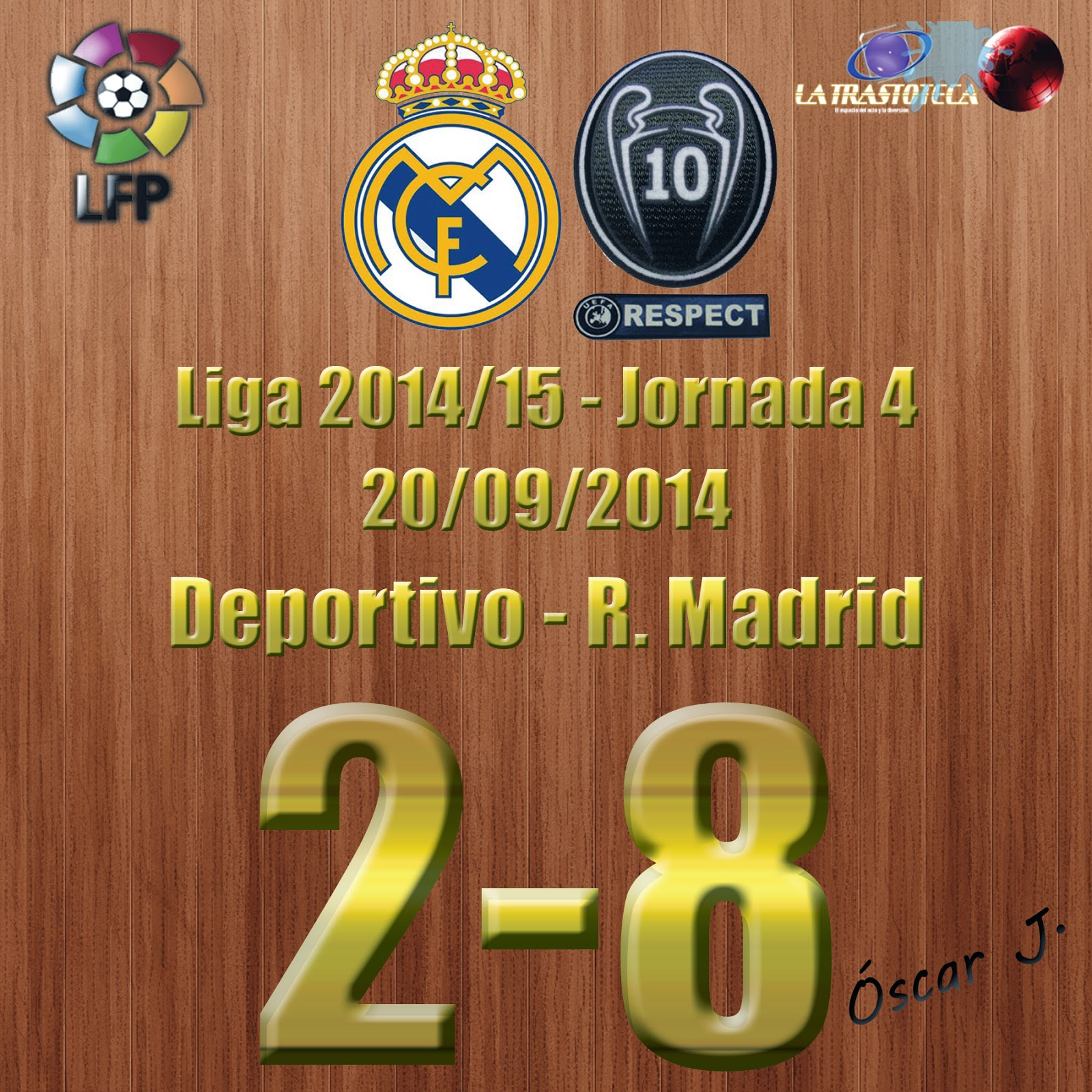 Deportivo 2 - 8 Real Madrid