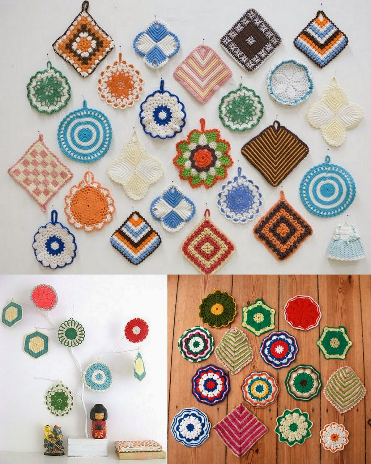 Vintage-Crochet-Potholder-Collection