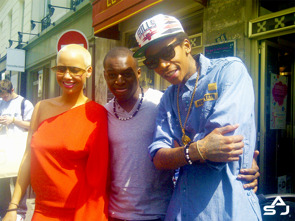 amber rose and wiz khalifa in paris. Amber Rose amp; Wiz Khalifa in