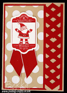 Tag It Christmas Card with stunning lattice border - instructions on an easy way to make this border are on this post!