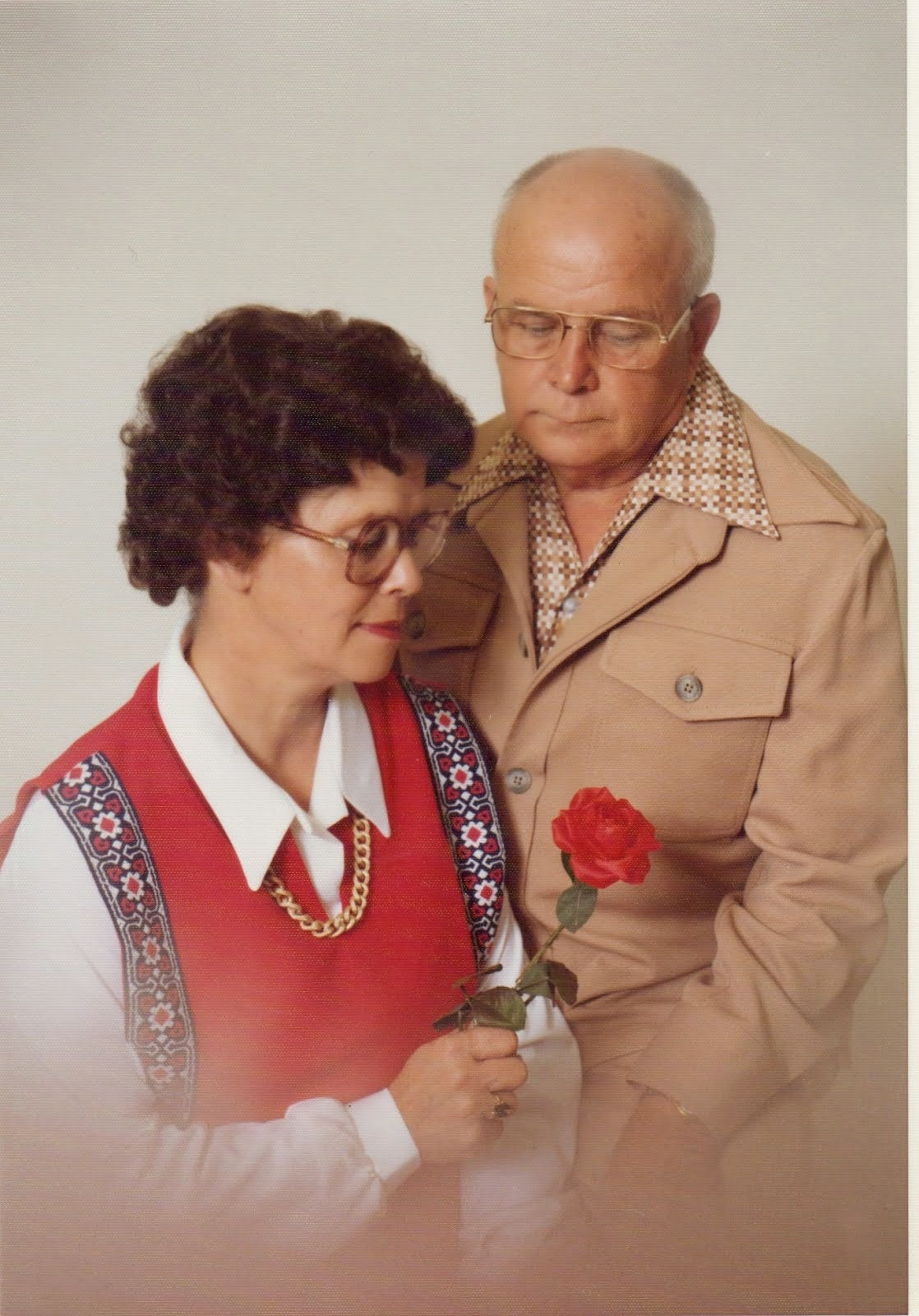 Virginia Spaulding (Grandma) with her husband (Grandpa) Alfred Spaulding