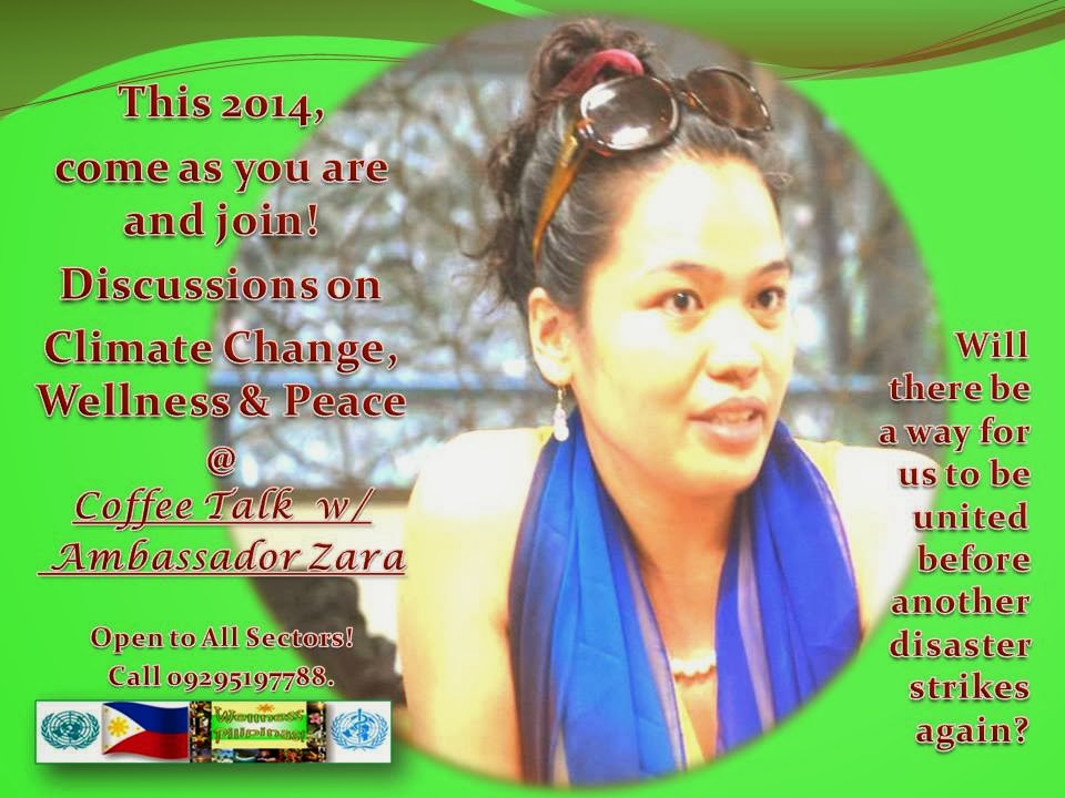 Discussions on Climate Change, Wellness and Peace with Ambassador Zara Jane Juan