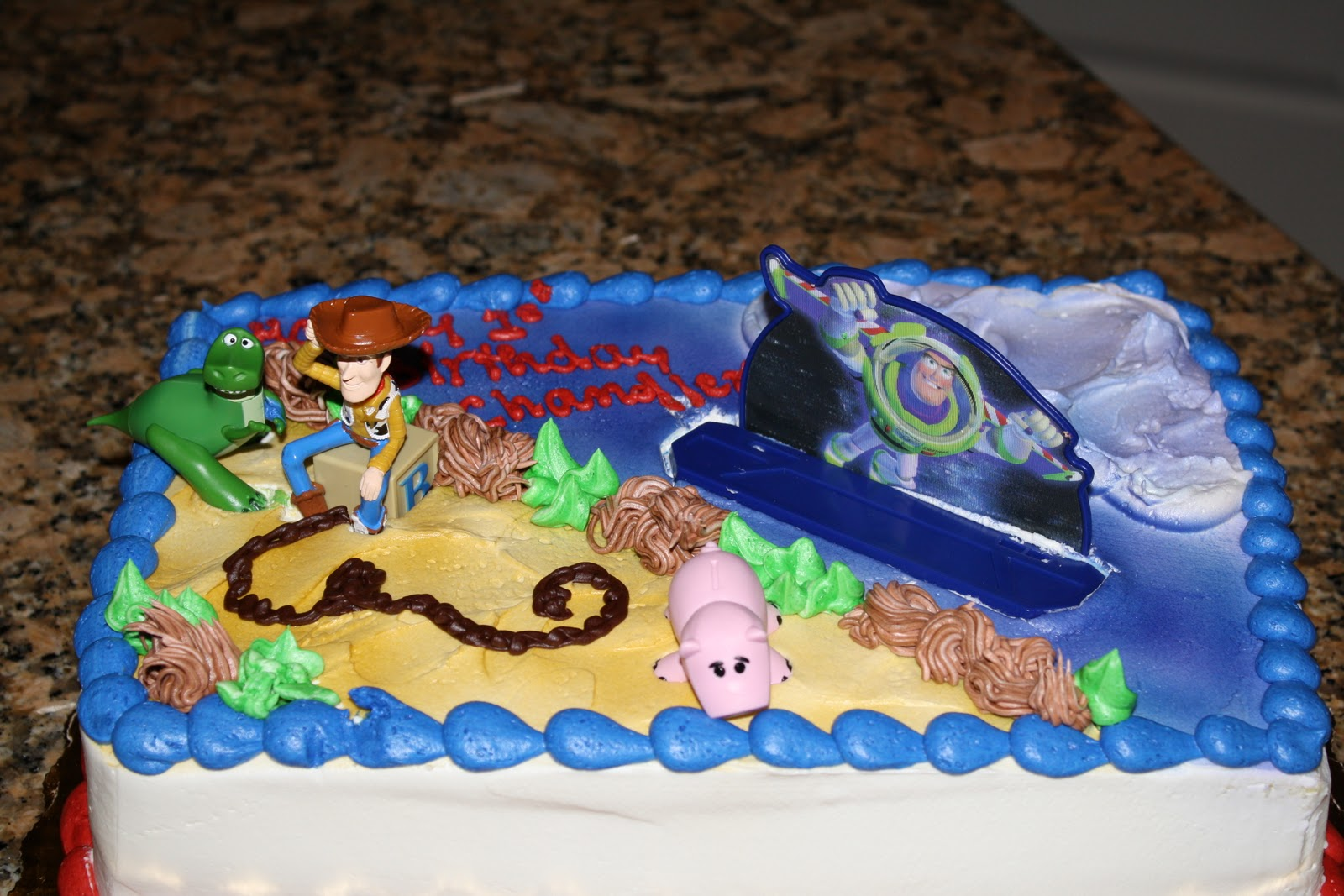 Toy Story Birthday Cake Publix Lovelace Family Happy 1st Chandler