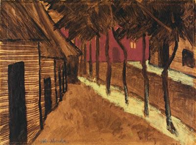 "Otto Mueller ""Rue de village, le soir"""