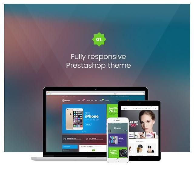 janus prestashop 1.6 responsive themes