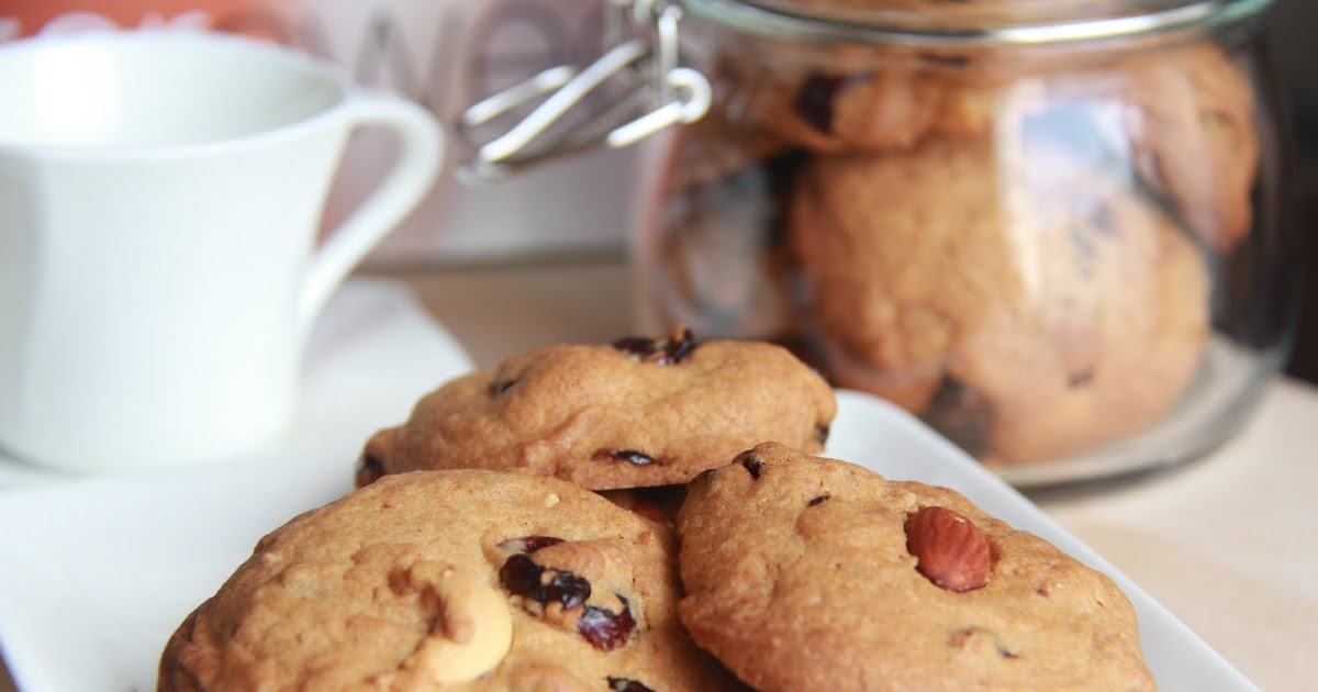 Simple indulgence cranberry chocolate nuts cookies