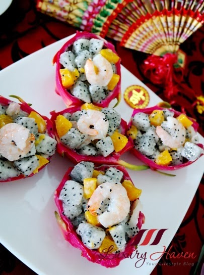 how to make healthy dragon fruit appetizers
