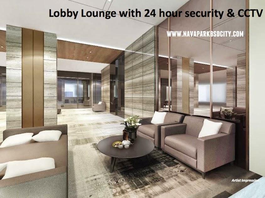 Lobby Condo Marigold NavaPark BSD