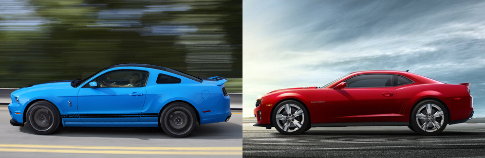 2013 Ford Mustang Shelby Gt500 Vs Chevrolet Camaro Zl1