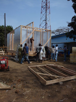 RAY-CORE Mercy Ship Building Goes Up in Sierra Leone