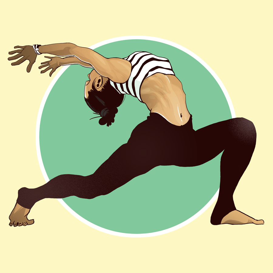 illustration yoga