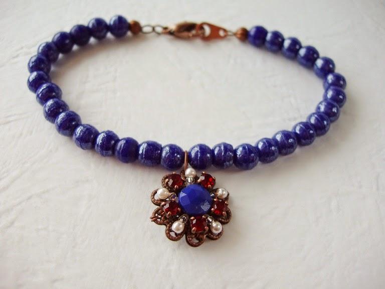 Vintage style jewelry French bead mdmButiik vintage-stil armband