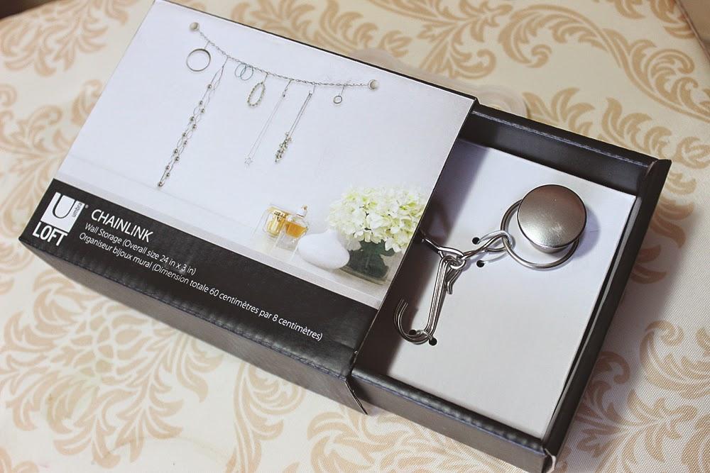 chainlink, necklace holder, jewelry organizer, diy, chain,