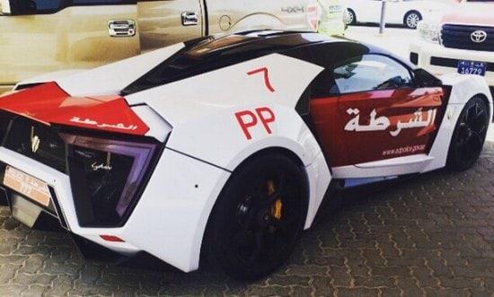 W Motors Lykan Hypersport policía de Dubai