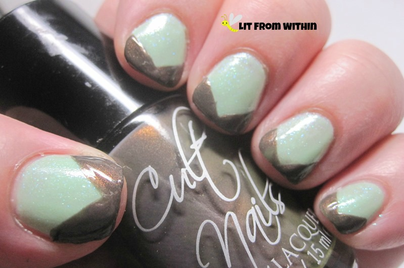 Cult Nails Midnight Mist, a gorgeous mushroom-y taupe with a copper shimmer