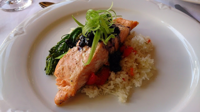 Salmon at Hillcrest Dining Room, Revelstoke, Canada