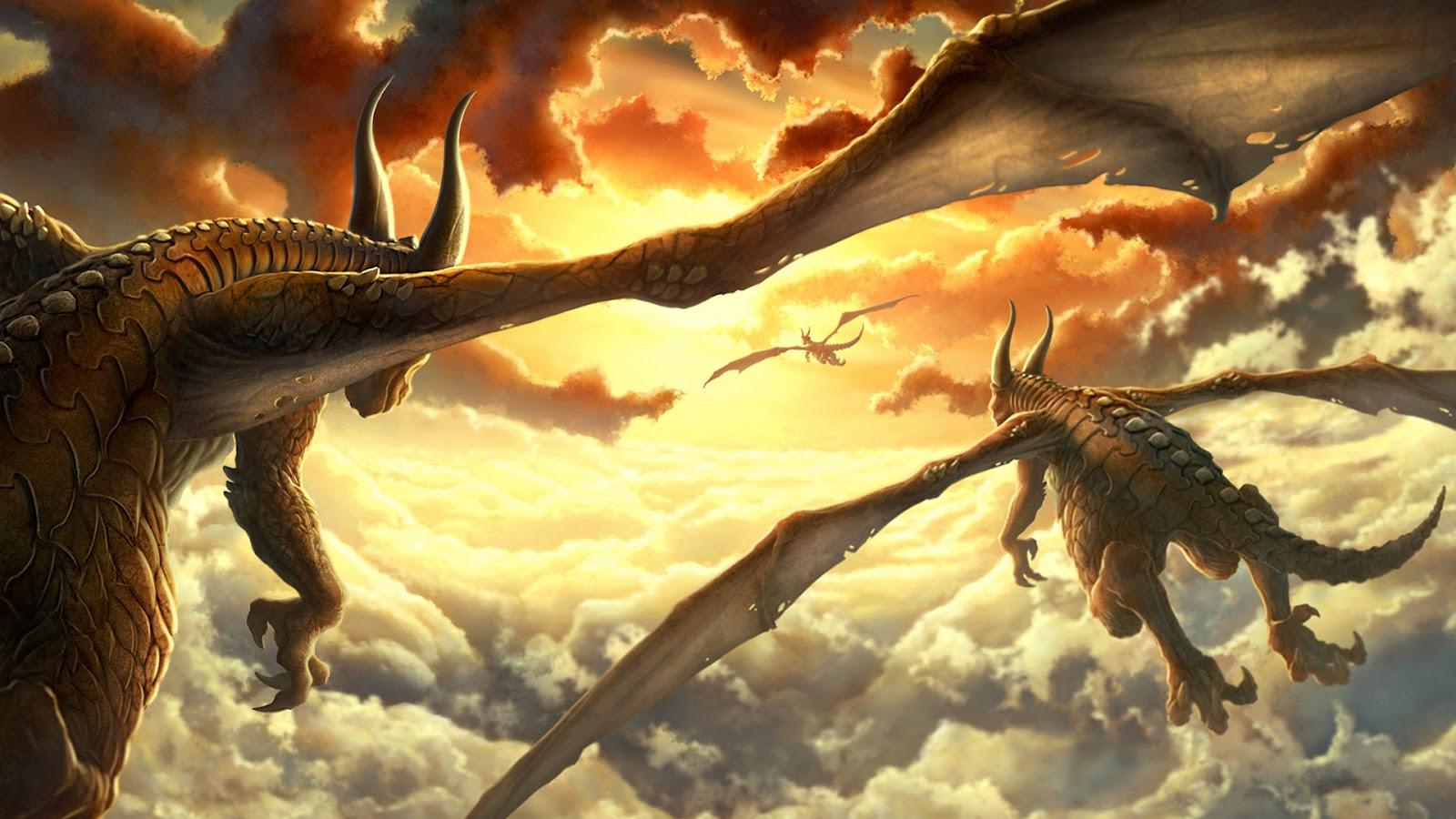 Imagens de Fund... Flying Fantasy Dragons