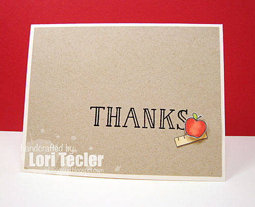 Thanks card-designed by Lori Tecler/Inking Aloud-stamps from Lawn Fawn