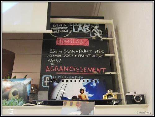 boutique lomography store paris 4ème Marais, impression tirage clichés, développement des photos lomographie lab