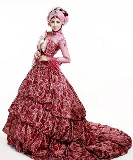 Model Gaun Kebaya Pengantin Muslim