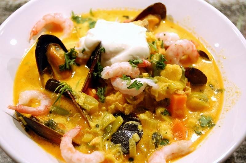 krämig fisksoppa med torsk