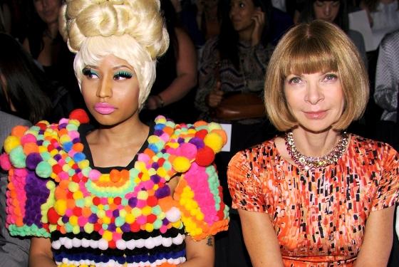 Nicki+Minaj+Bonds+With+Anna+Wintour