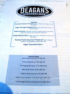 Deagan's Kitchen & Bar Daily Specials Menu