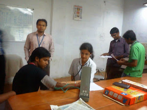 Zahoorullah S MD,Assistant Professor, Conducting Prediabetic and Obesity tests to the students