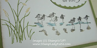 Close-up of the card made with Stampin'UP!'s Wetlands Stamp Set