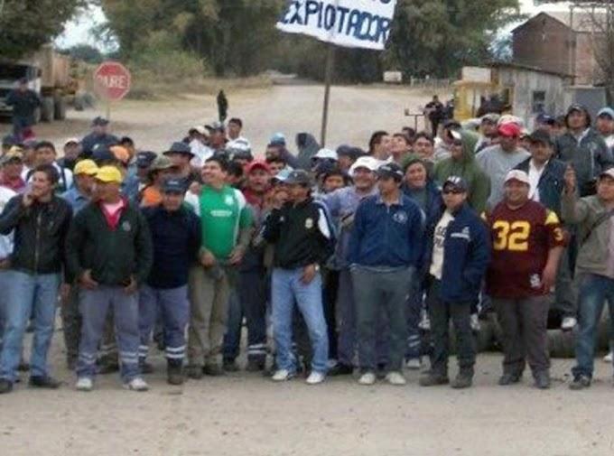 Los gremios muestran su apoyo a los compañeros de El Tabacal