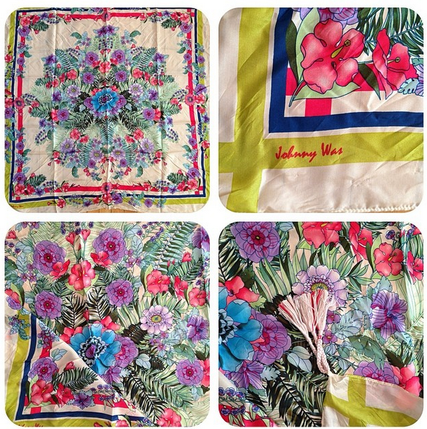 Biscotti silk scarf by Johnny Was ($88) at Folly